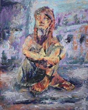 Chica, óleo sobre tabla, 81 x 100