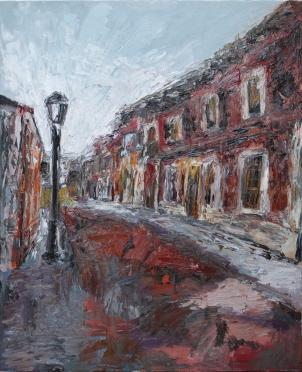 Calle Caballeros 1 (Laguna de Duero), óleo sobre lienzo, 81 x 100