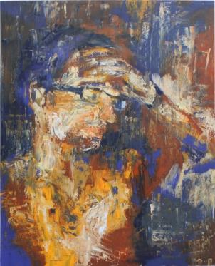 Autorretrato, óleo sobre tabla, 81 x 100