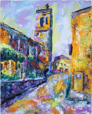 Quintanilla de Arriba, óleo y acrílico sobre lienzo, 81 x 100