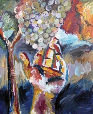 Exaltación del verdejo, acrílico sobre lienzo, 81 x 100