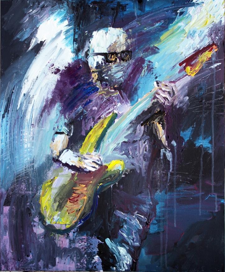 Rock Star 2, acrílico sobre lienzo, 50 x 65