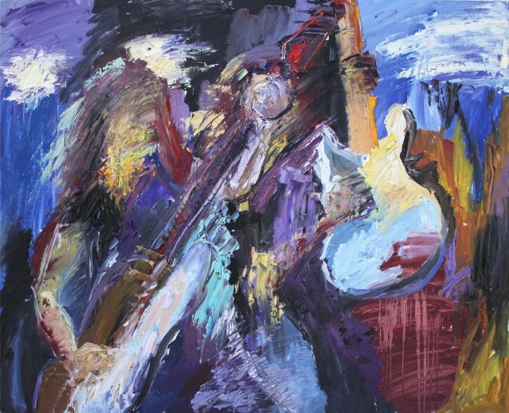 Rock Star 4, óleo sobre tabla, 100 x 81, 2014