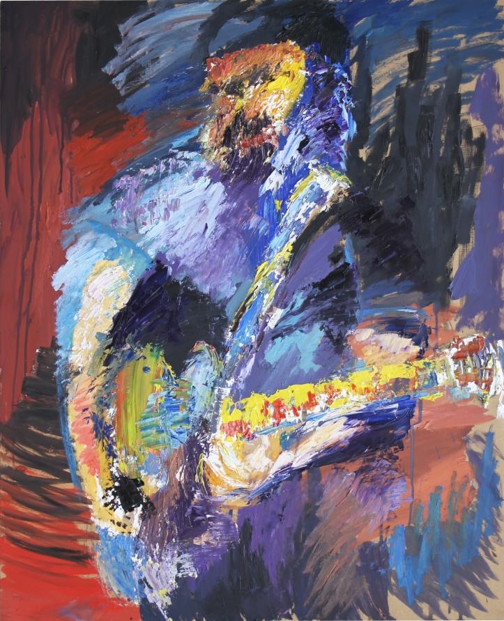 Rock Star 5, óleo sobre tabla, 81 x 100