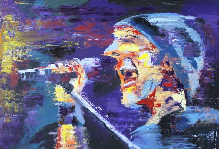 Rock Star 6, óleo sobre tabla, 120 x 81