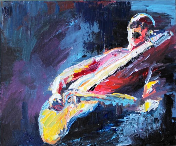 Rock Star 7, acrlílico sobre lienzo, 61 x 50