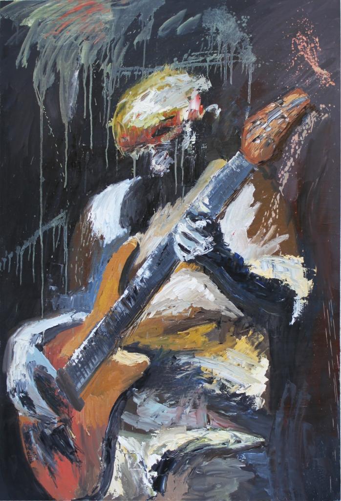 Rock Star 8, óleo sobre tabla, 81 x 120