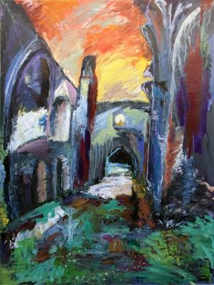 Monasterio de la Armedilla 2, Cogeces del Monte, óleo sobre tabla, 122 x 164,