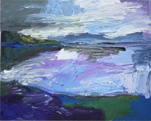 Skye 7, óleo sobre lienzo, 25 x 20, 2014