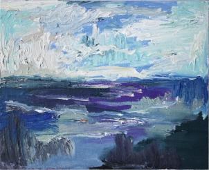 Skye 6, óleo sobre lienzo, 25 x 20