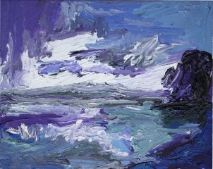 Skye 8, óleo sobre lienzo, 25 x 20, 2014