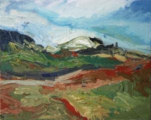 Skye 10, óleo sobre lienzo, 25 x 20, 2014