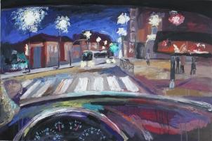 Otra noche sin dormir, óleo sobre tabla, 120 x 81