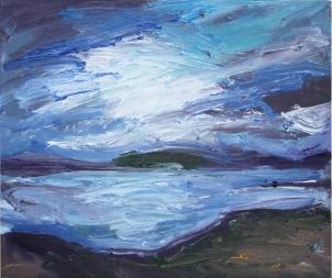 Skye 16, óleo sobre lienzo, 30 x 25