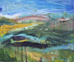 Skye 15, óleo sobre lienzo, 30 x 25