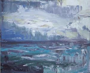 Skye 17, óleo sobre lienzo, 25 x 20