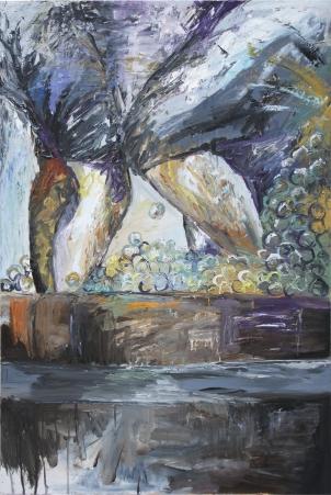 """Pisado de la uva, óleo sobre tabla, 81 x 120 (Realizado para el concurso de pintura """"Exaltación del Verdejo"""" de La Seca)"""
