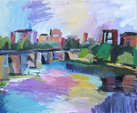 Puente Mayor, acrílico sobre lienzo, 100 x 81