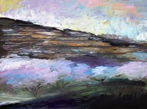 Jerte 2, óleo sobre tabla, 81 x 61