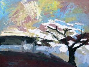 Jerte 3, óleo sobre tabla, 81 x 61