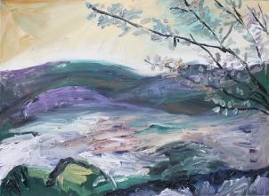 Jerte 4, óleo sobre tabla, 81 x 61