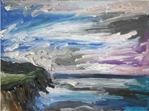 Skye minicuadro 10, óleo sobre lienzo, 40 x 30