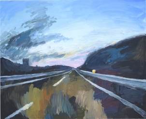 Volviendo a casa, óleo sobre tabla, 100 x 81