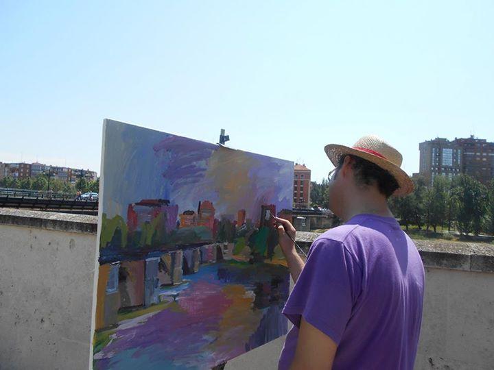 """Concurso de pintura rápida """"Las Fuentes de la Edad"""". Fotografía de Juan Carlos Velasco"""