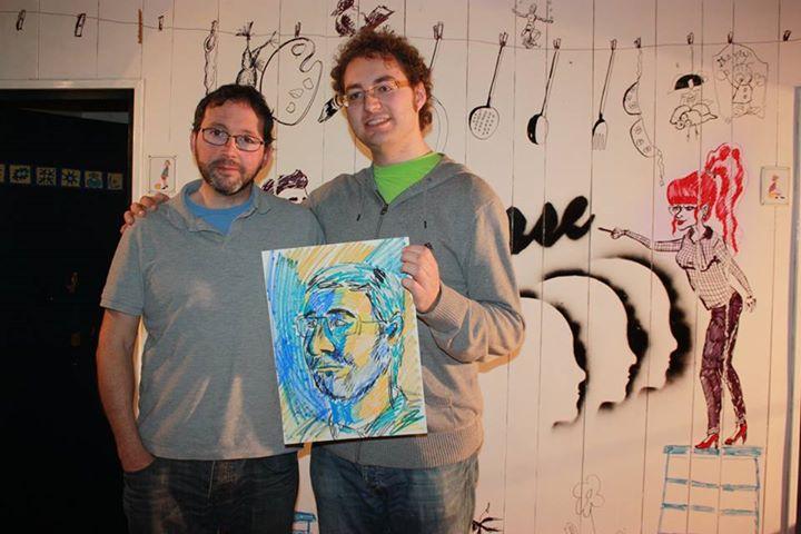 Pintando a Alberto García (Celtas Cortos)