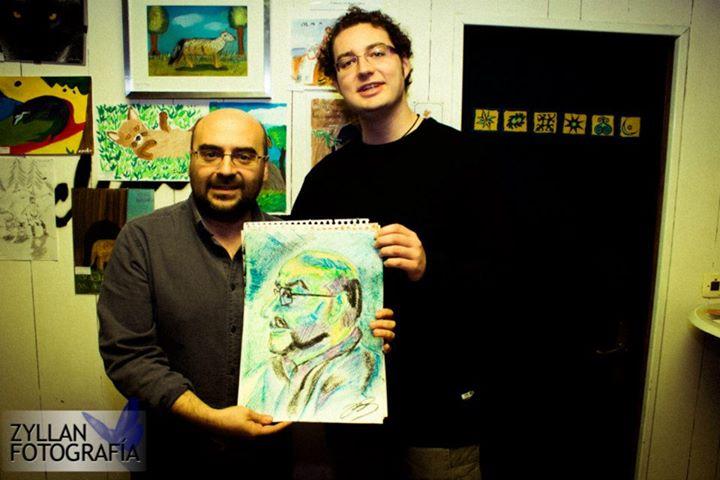 """Pintando a Rafael Vega """"Sansón"""""""