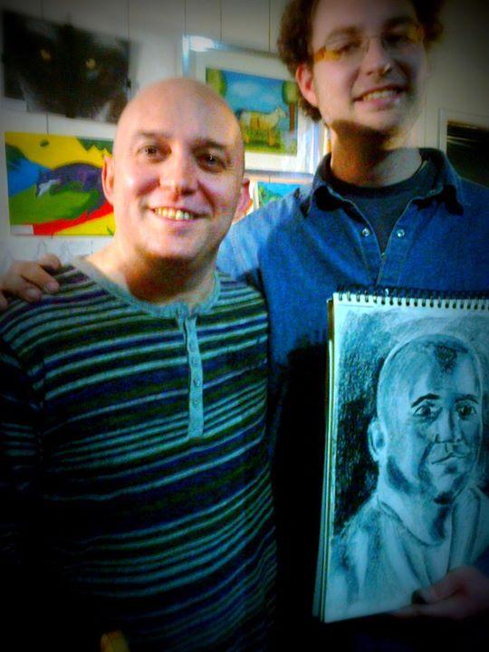 Pintando a Óscar García (Celtas Cortos)