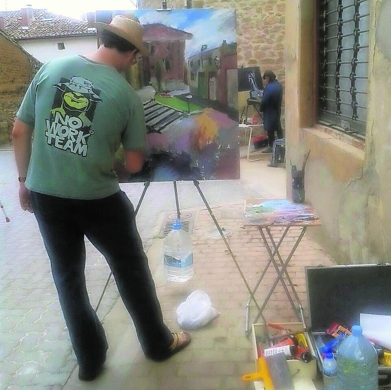 Concurso Pintura Rápida Torquemada 2014, fotografía de El Norte de Castilla