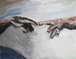 1511 Miguel Ángel - La Creación de Adán (detalle)