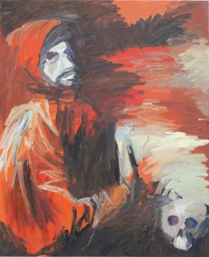 1658 Zurbarán - San Francisco arrodillado con una calavera en las manos