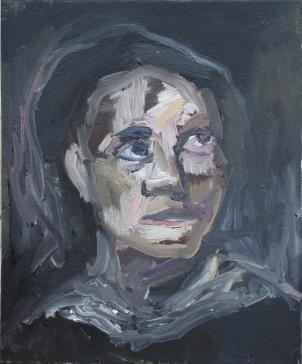 1823 Eugène Delacroix - Cabeza de mujer