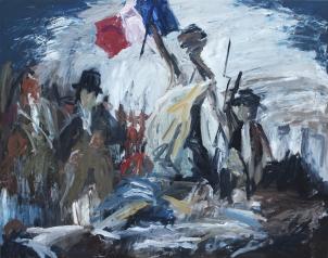 1830 Eugène Delacroix - La Libertad guiando al pueblo