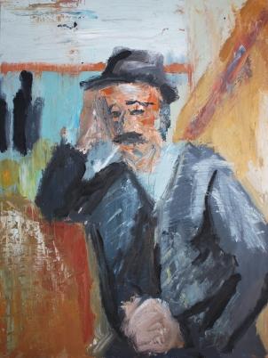 1890 - 92 Paul Cezanne - Hombre con pipa