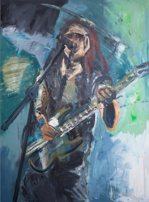 Rock Star 11, acrílico sobre tabla, 70 x 100