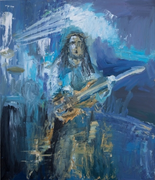 Rock Star 12, acrílico sobre tabla, 61 x 71